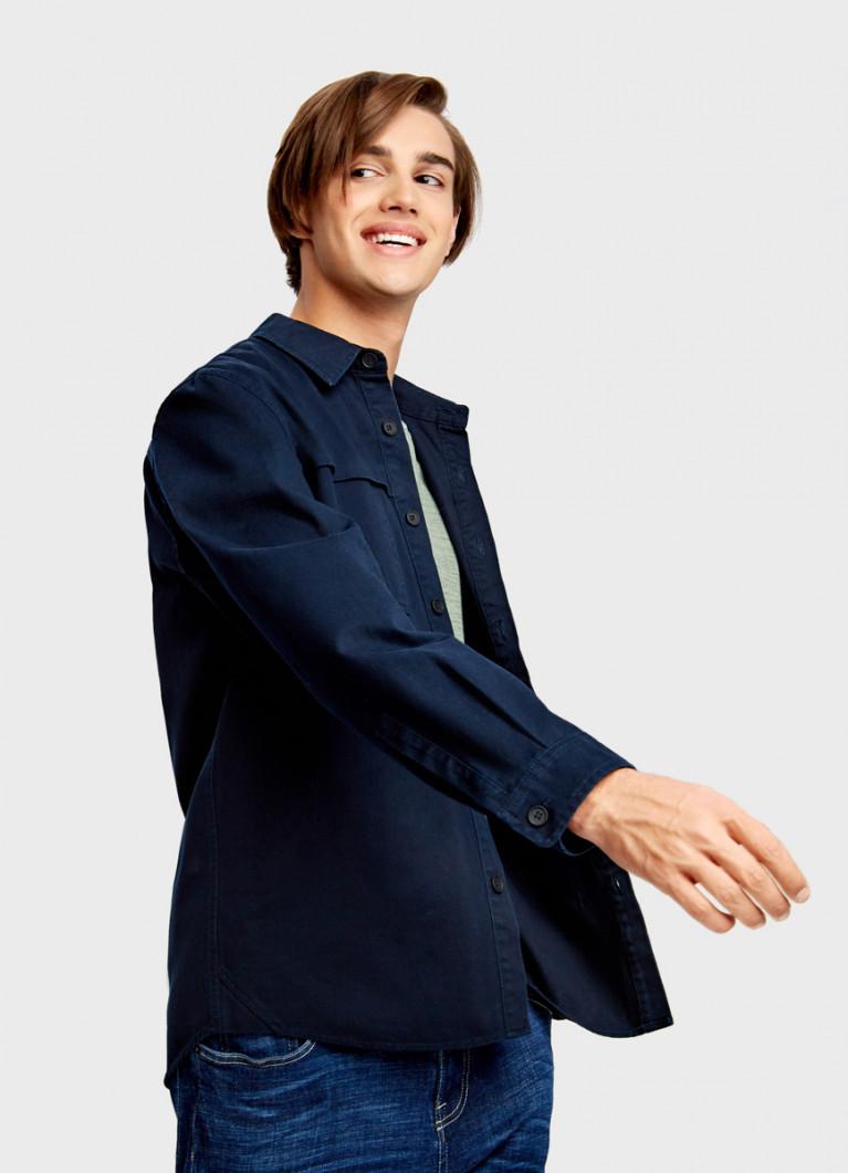 Рубашка-куртка из твила