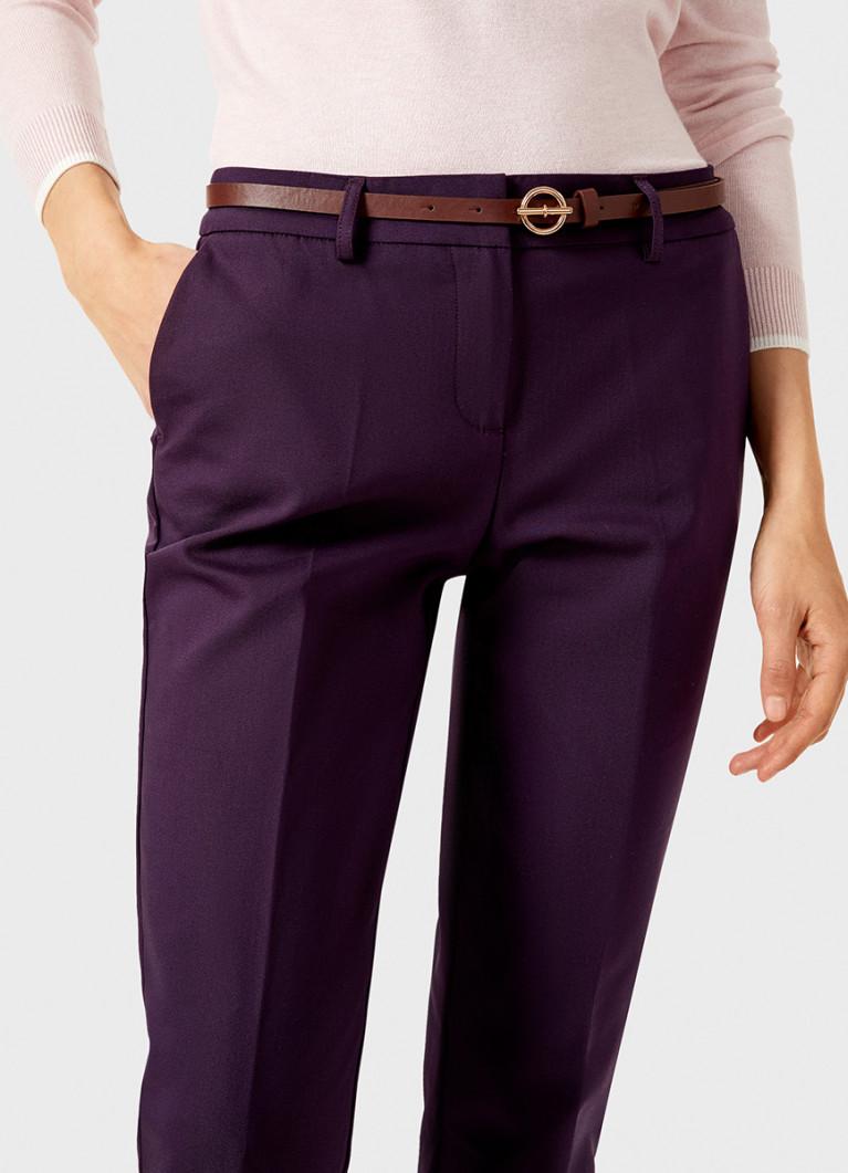 Хлопковые брюки с ремнём