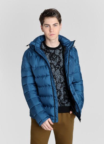 Стёганая куртка с капюшоном фото