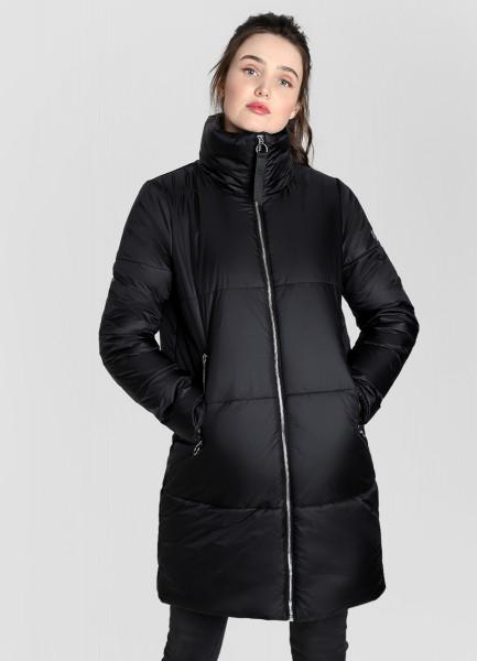 Лёгкое пальто с воротником-стойкой