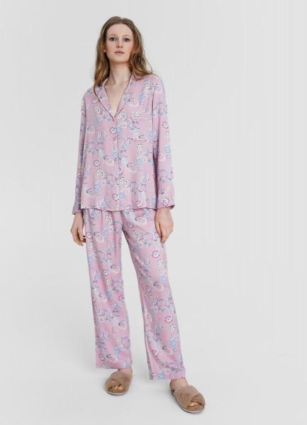 Пижама из вискозы с принтом