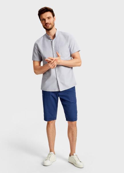 цена Рубашка с воротником-стойкой из хлопка онлайн в 2017 году