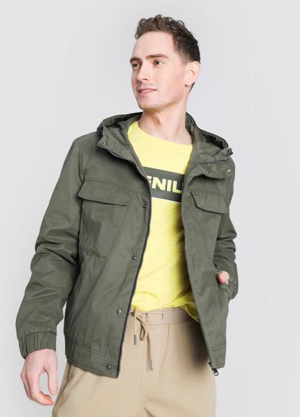 Куртка с капюшоном из хлопка фото