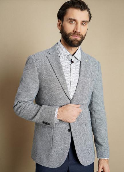 Пиджак из кроёного трикотажа