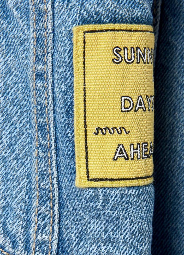 Комбинезон из денима в винтажной  стирке