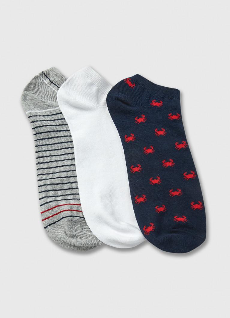 Комплект коротких носков с крабами