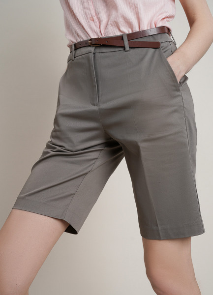 Удлинённые шорты из хлопка со стрелками