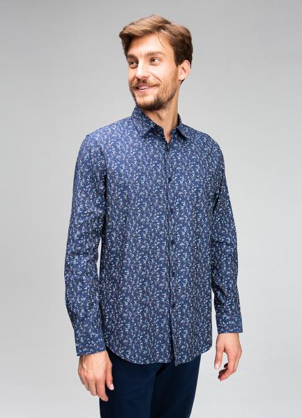 Рубашка из хлопка Oxford с флоральным принтом фото