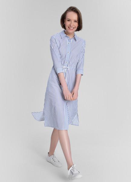Платье-рубашка из хлопка в полоску