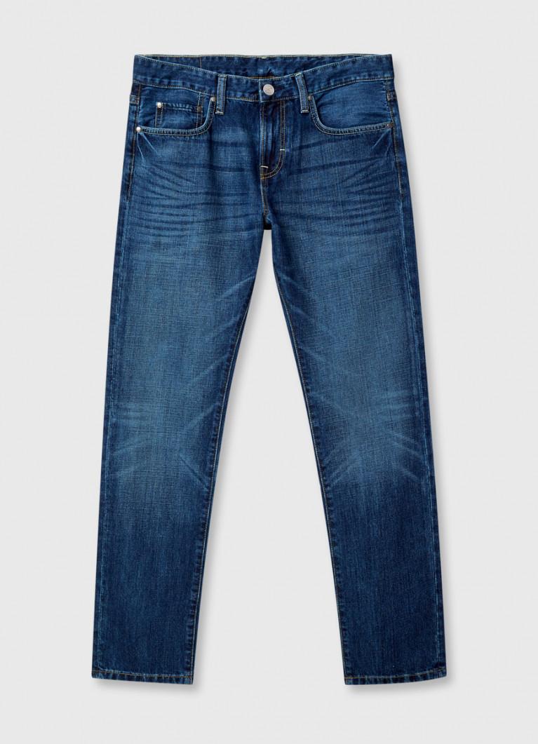 Зауженные джинсы с изумрудным оттенком