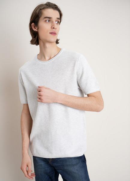 Вязаная футболка с короткими рукавами