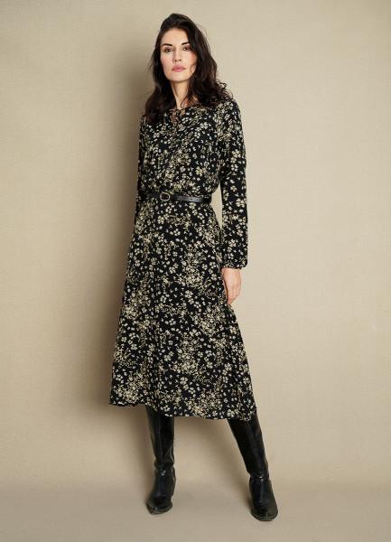 Принтованное платье из вискозного крепа