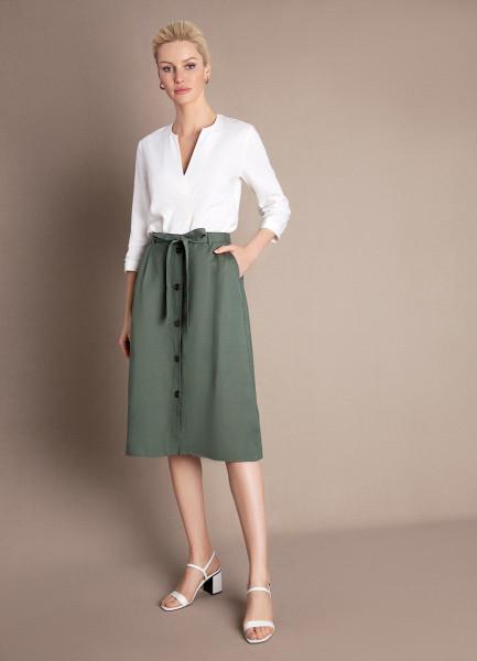 Льняная юбка А-силуэта с поясом юбка с поясом life style