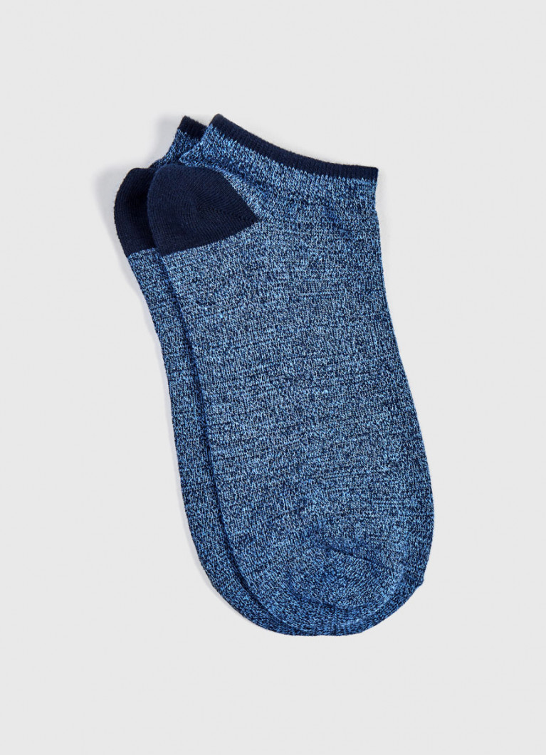 Меланжевые короткие носки