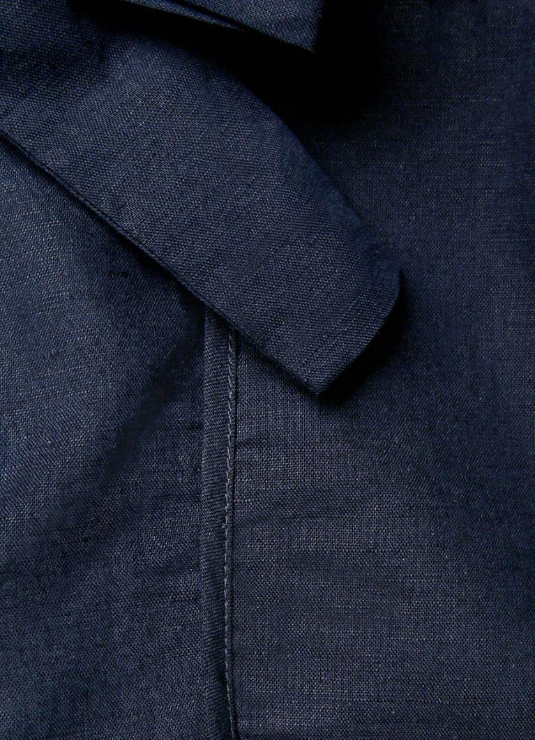 Шорты из ткани со льном