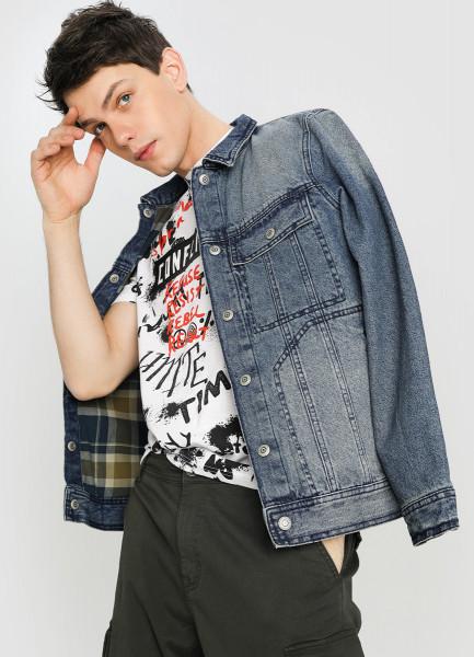 Джинсовая куртка на подкладке фото