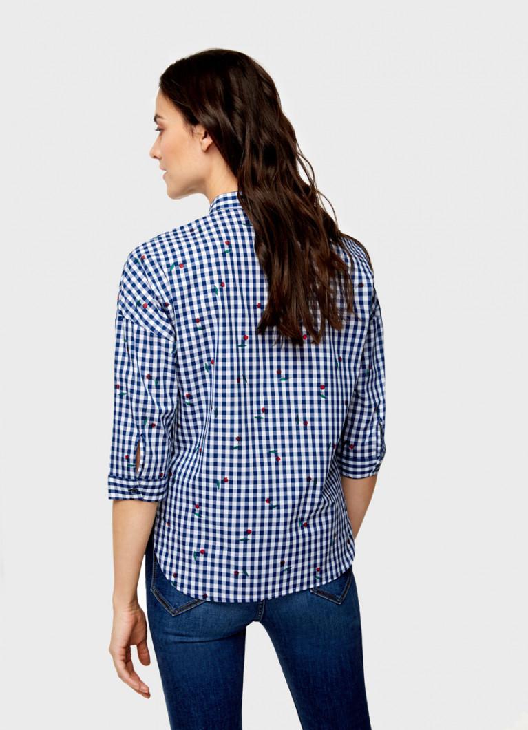 Объёмная рубашка из хлопка