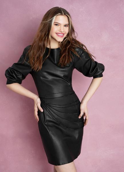 Платье из эко-кожи