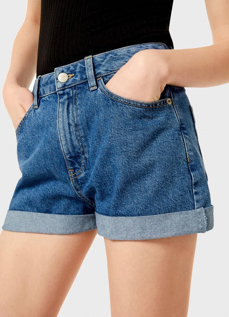 Денимные шорты MOM