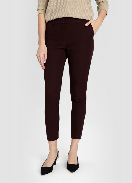 Прямые брюки из эластичного хлопка фото