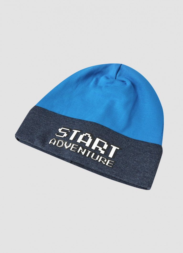 Двухсторонняя шапка для мальчиков