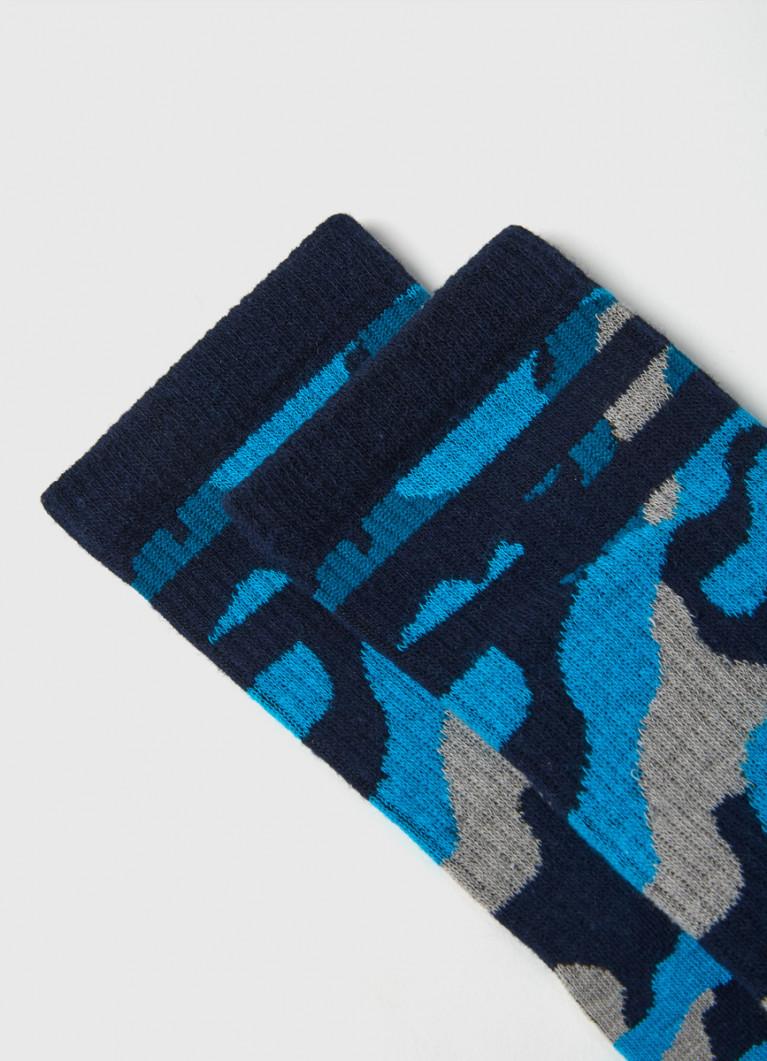 Носки с камуфляжным жаккардом