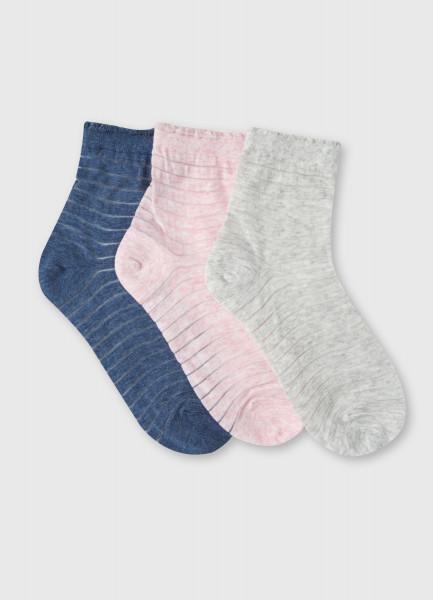 Носки с полосками из сетки