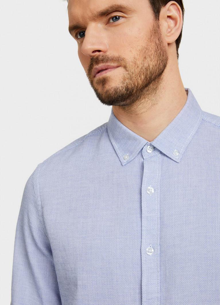Рубашка в крупную структуру