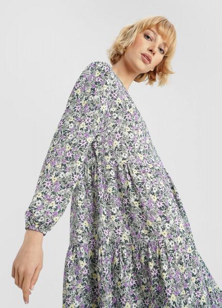 Принтованное платье из вискозы