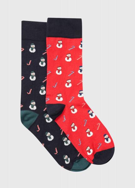 Фото - Носки с жаккардом «снеговики» носки с жаккардом пицца