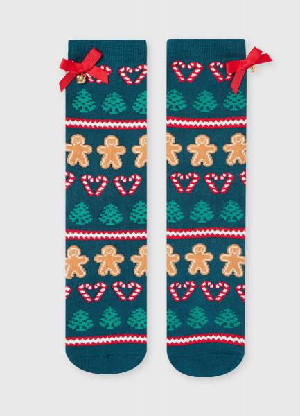 Фото - Махровые носки с жаккардом «печеньки» носки с жаккардом пицца