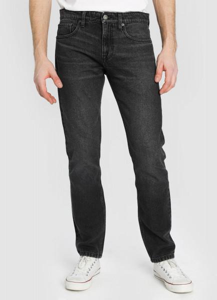Серые зауженные джинсы фото
