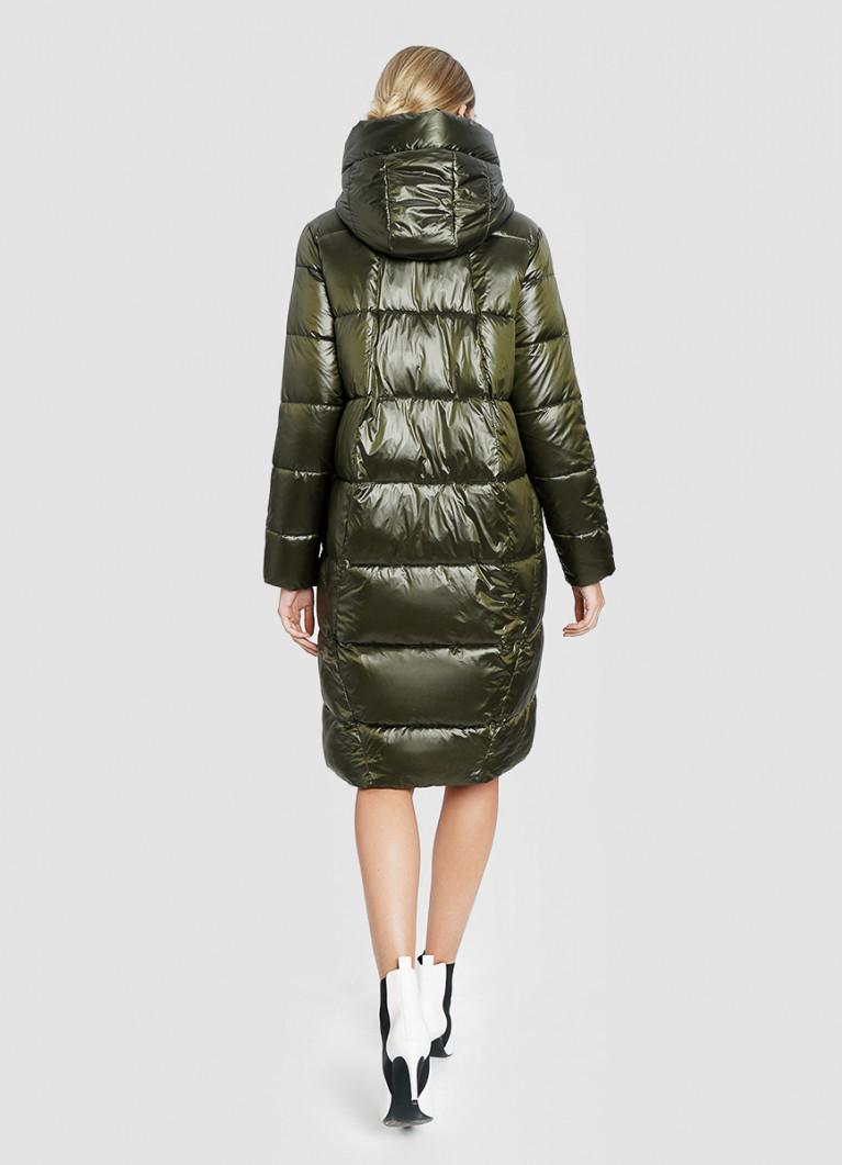 Длинное пальто с капюшоном
