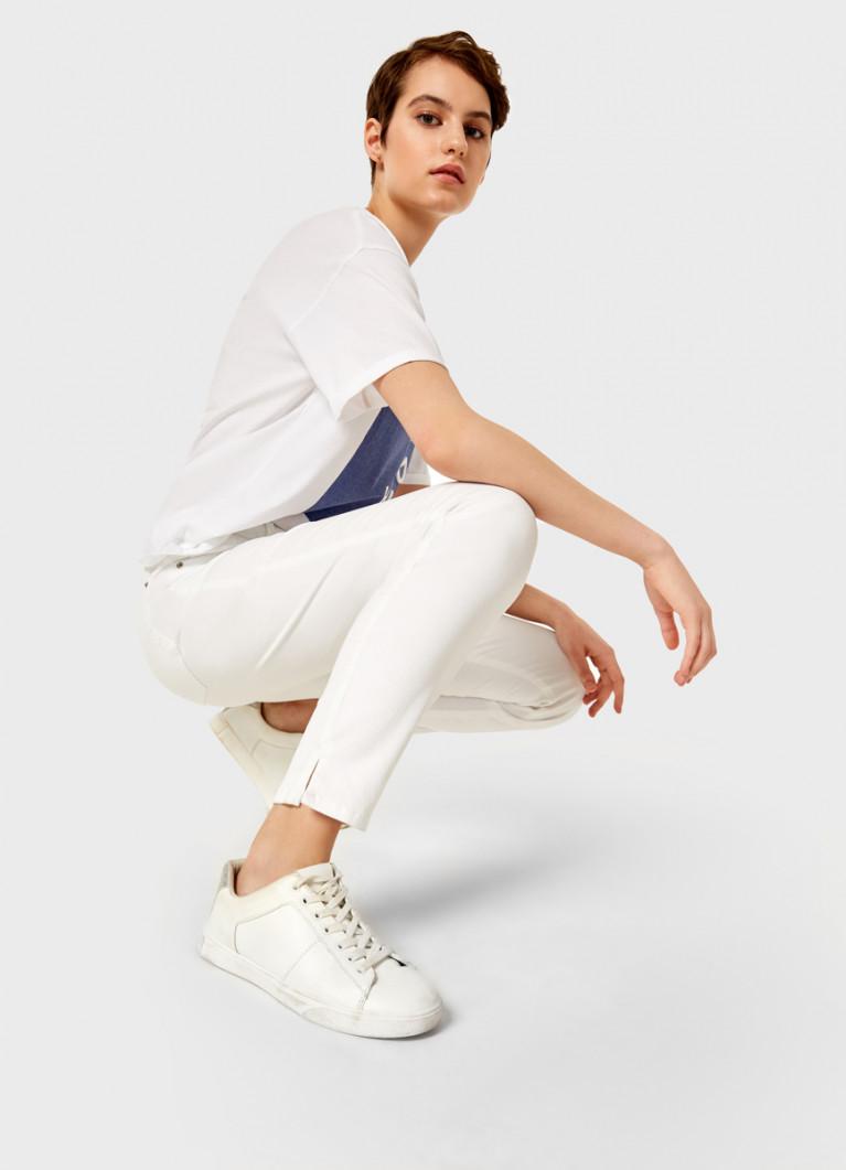 Узкие белые брюки