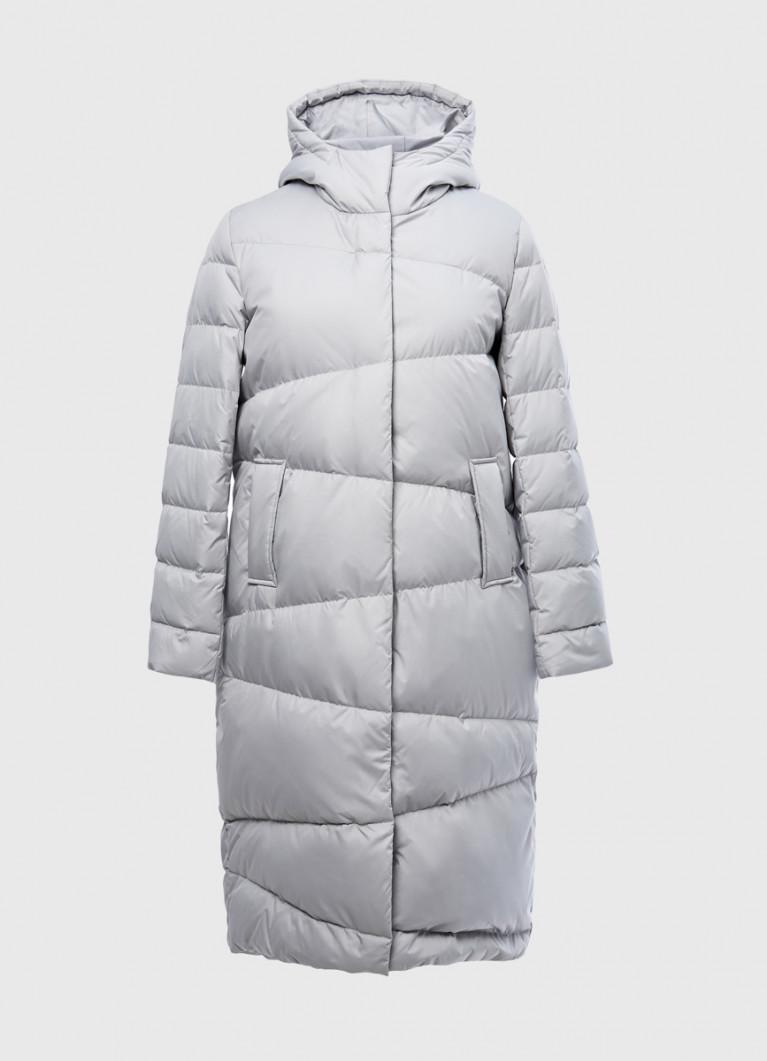 Пальто с асимметричной стёжкой
