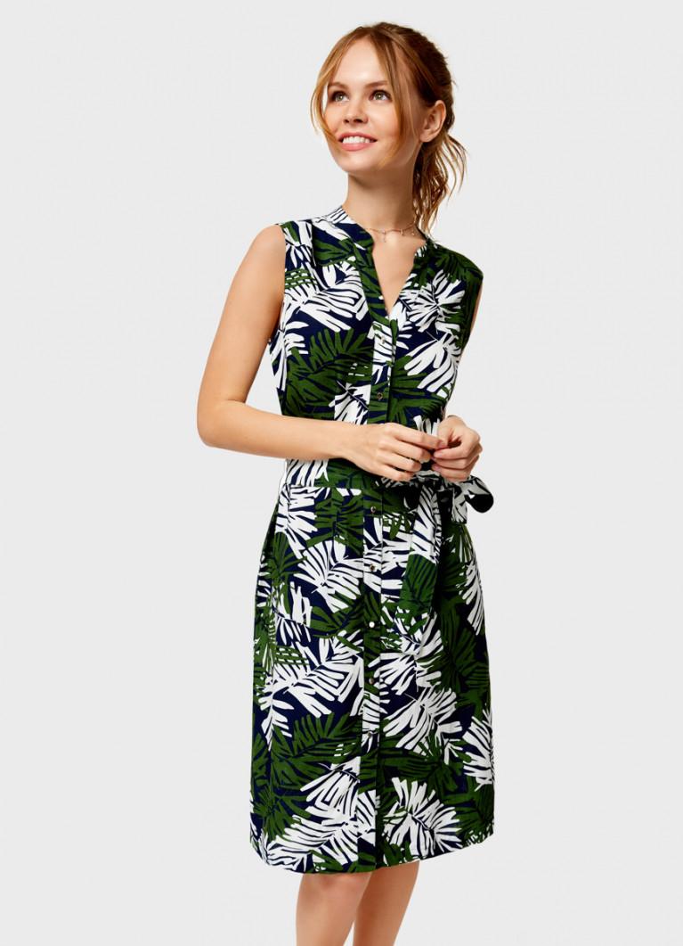 Льняное платье-туника
