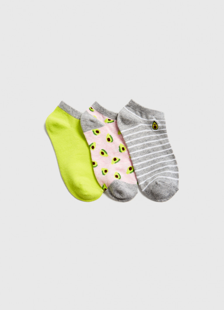 Короткие носки с жаккардом «авокадо»