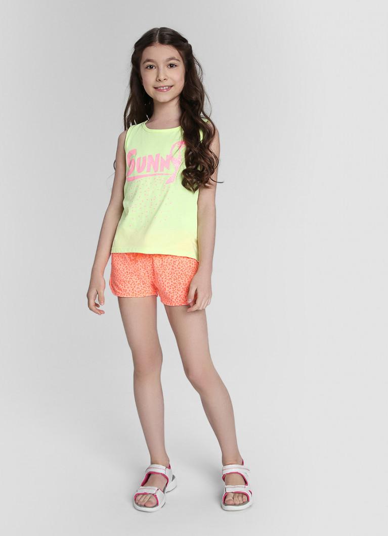 Трикотажные шорты для девочек