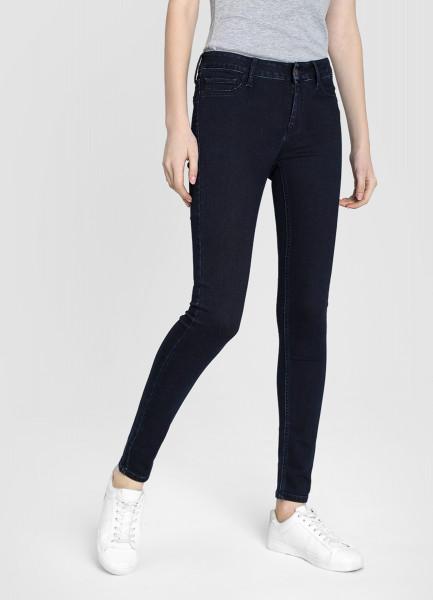 Суперузкие джинсы тёмно-синего цвета фото