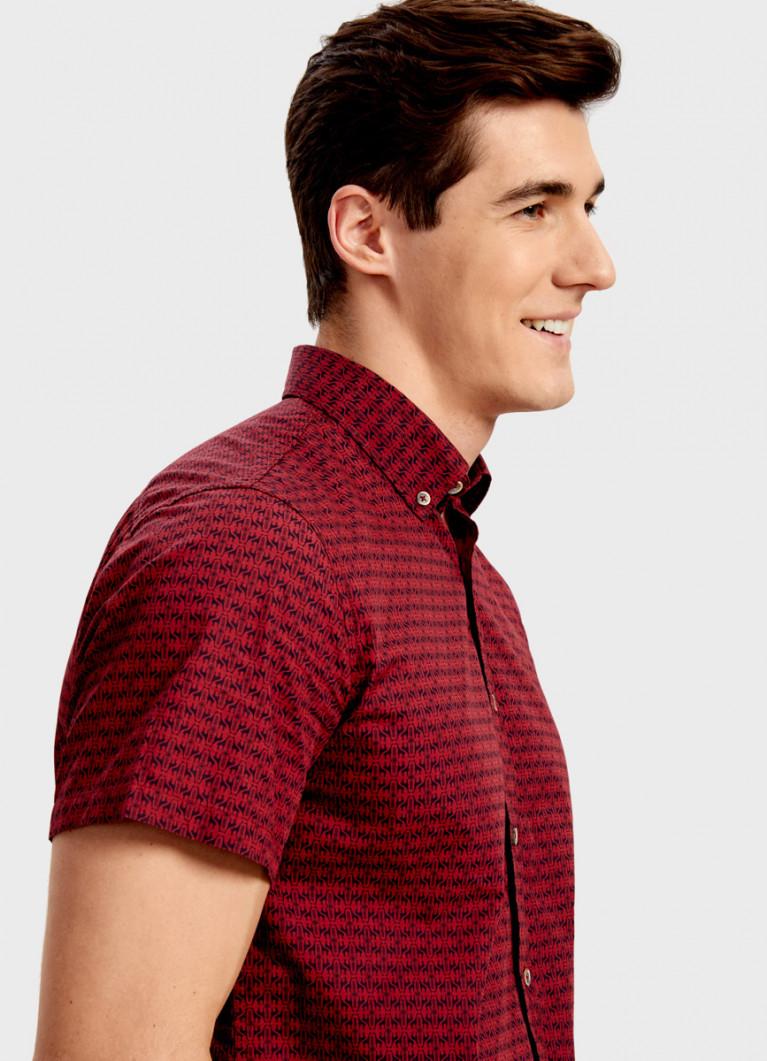 Рубашка с анималистичным принтом