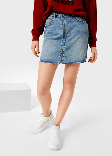 Денимная юбка A-силуэта