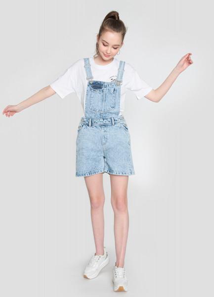 Короткий джинсовый комбинезон tamara mellon короткий комбинезон