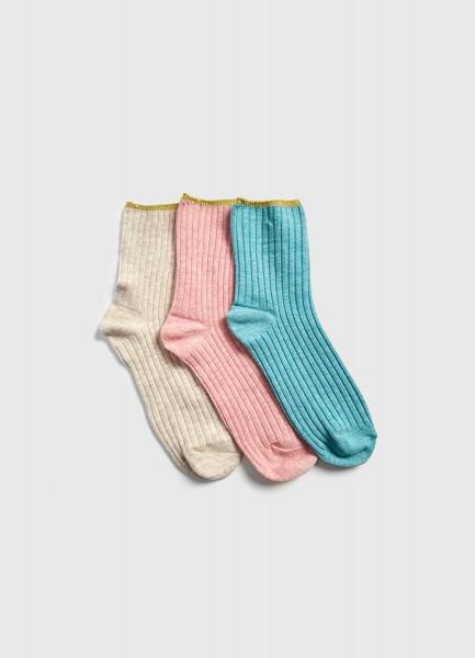Носки с люрексными резинками