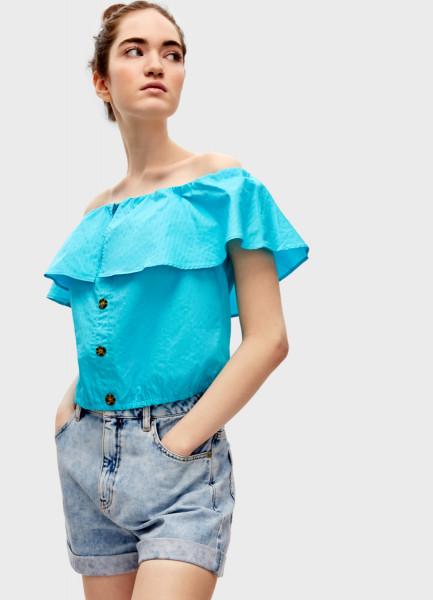 Блузка с открытыми плечами фото