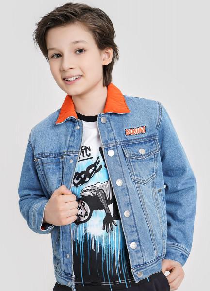 Джинсовая куртка на утеплённой подкладке для мальчиков