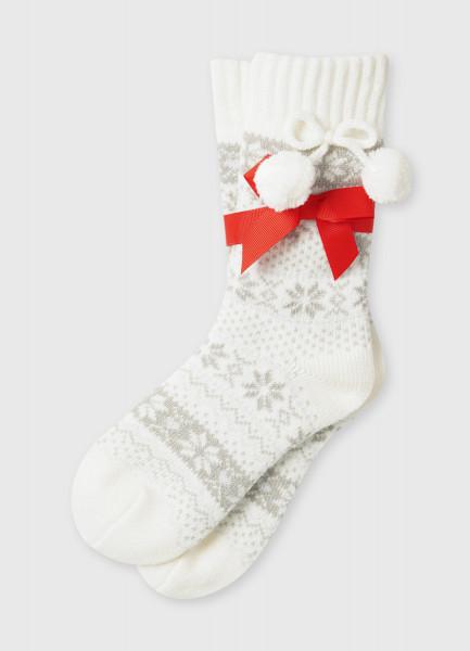 Акриловые носки с жаккардом