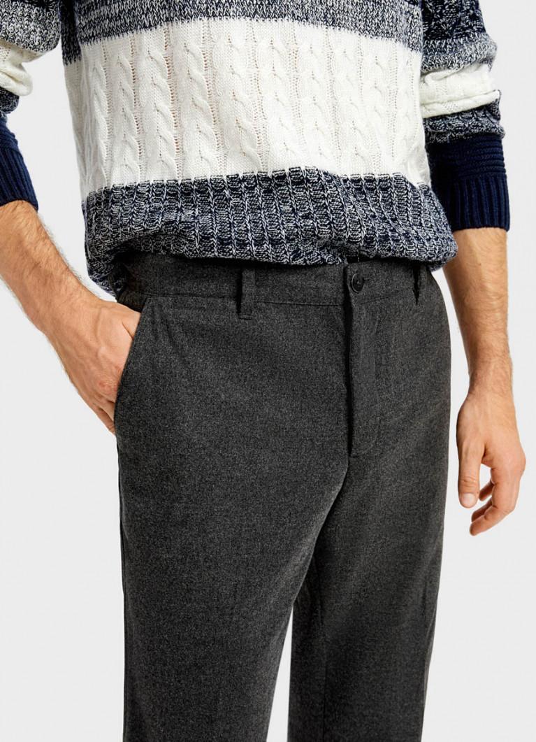 Утеплённые брюки-чиносы