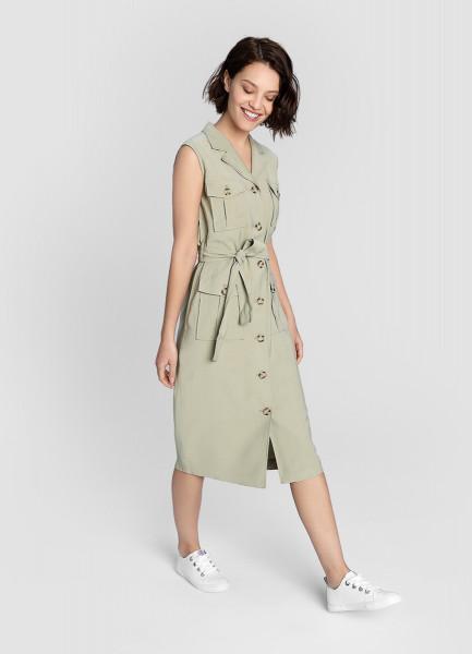 Платье в стиле сафари фото
