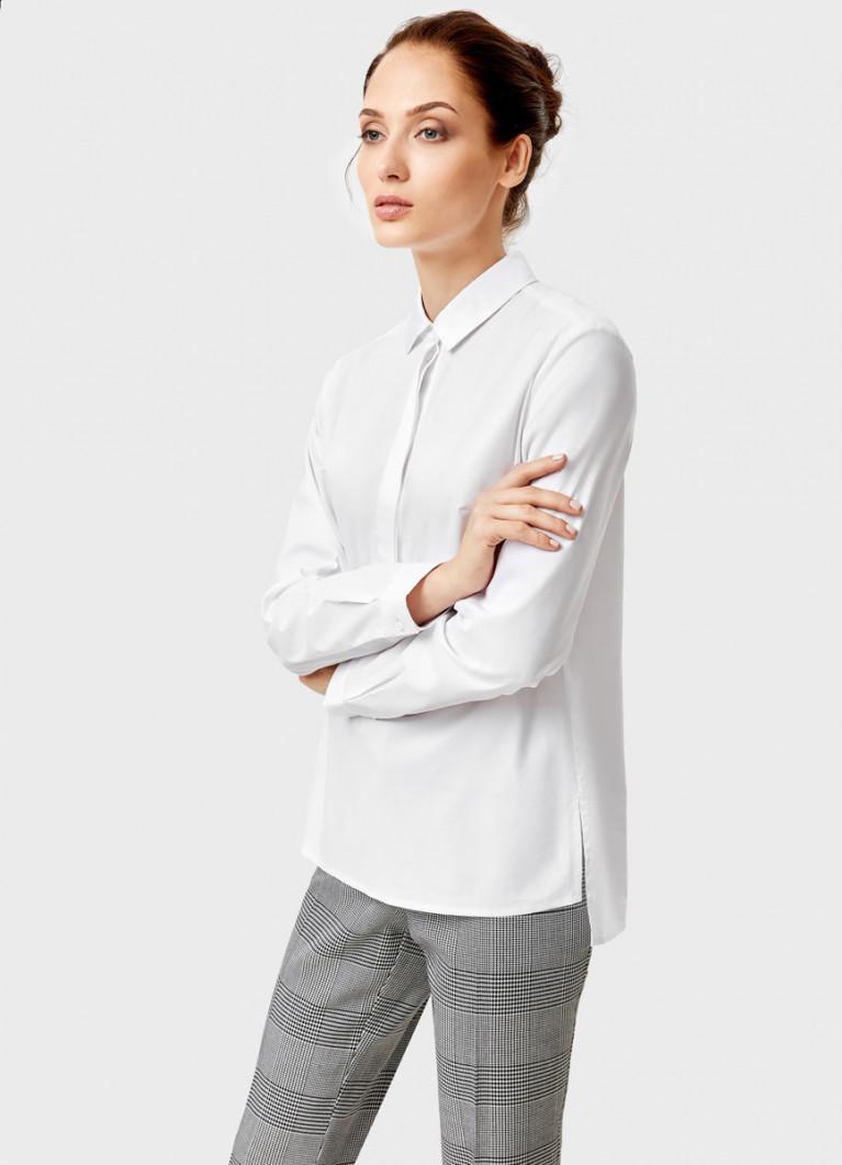 Рубашка из хлопка с декоративной планкой