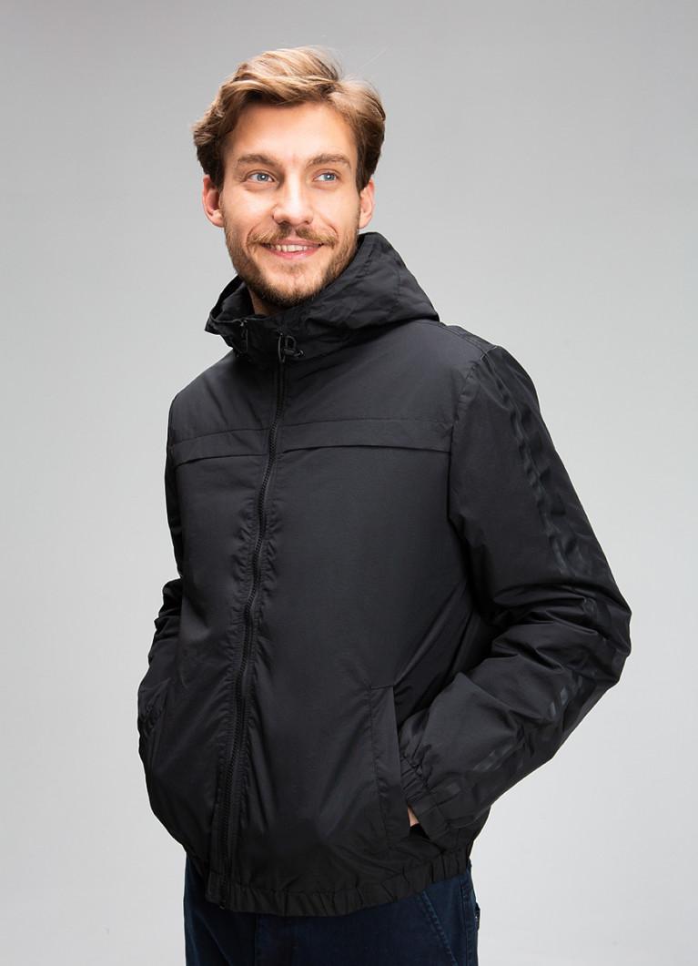Куртка-бомбер с капюшоном и принтами